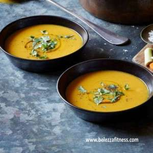 Lemongrass ginger carrot soup
