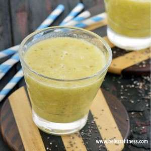 Pineapple chia seed and pear juice