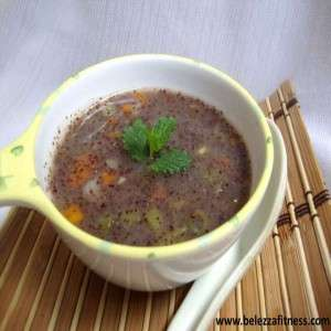 Ragi vegetable soup