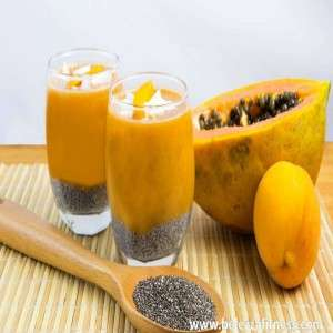 Frozen papaya smoothie