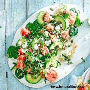 watermelon and spinach salads
