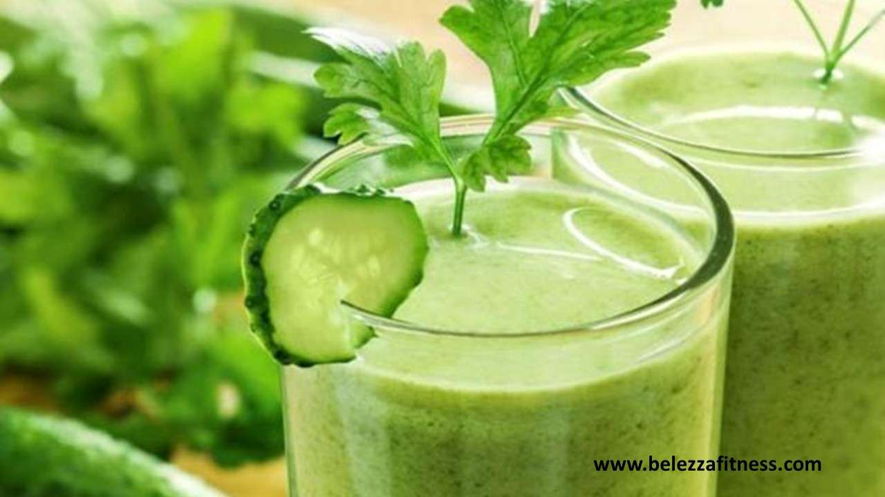 Bottle gourd and cucumber smoothie