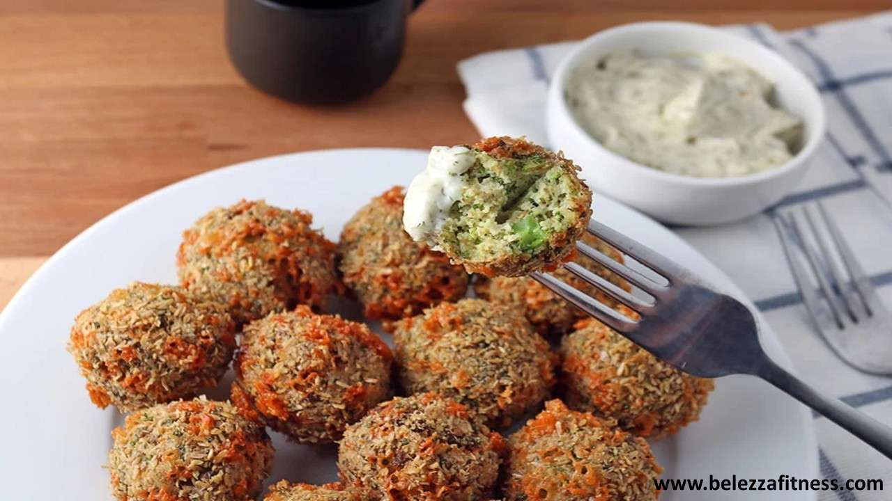 Broccoli and cheese fritters