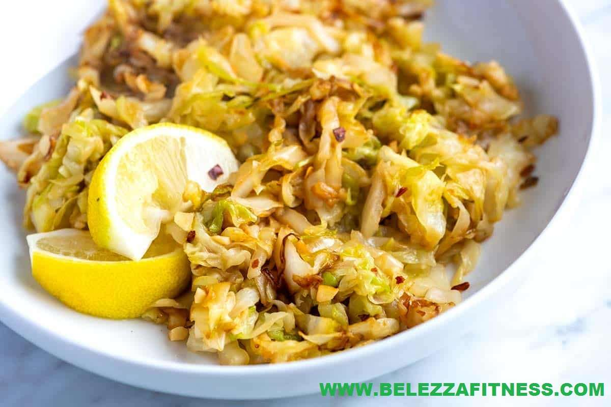 Lemon garlic sauteed cabbage