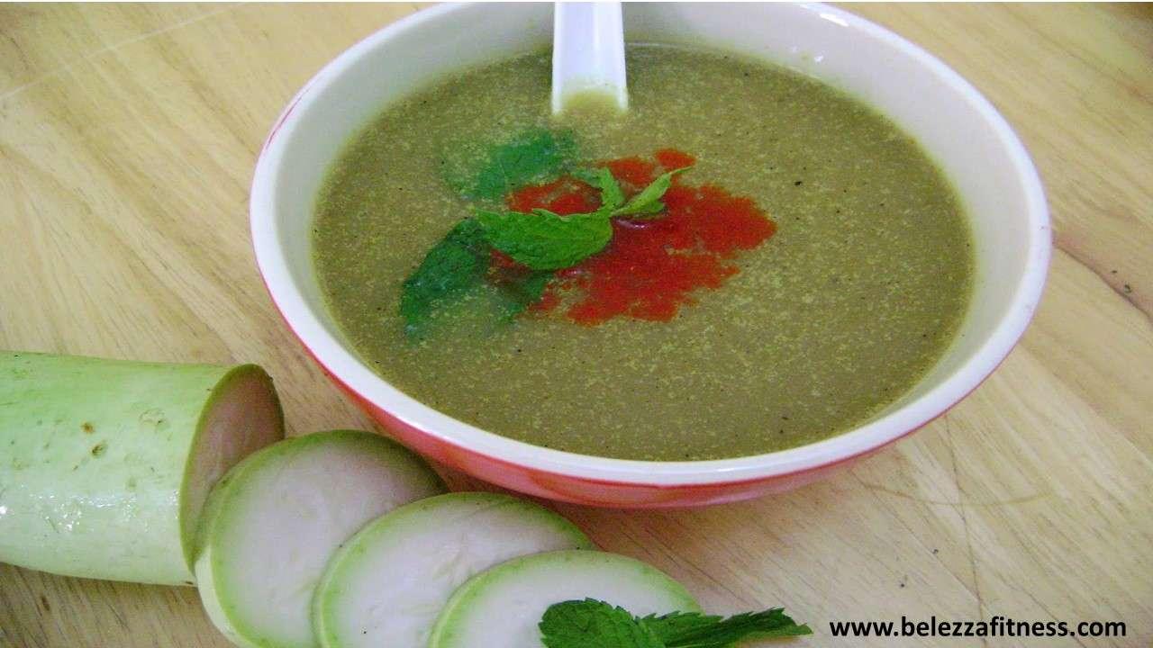 Lauki Palak soup
